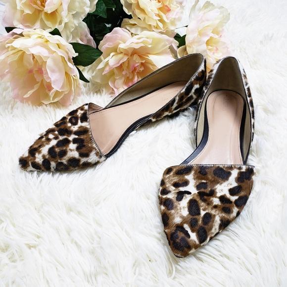 84341f2f9 J. Crew Shoes - J. Crew Sloan Leopard Calf Hair d Orsay Flats